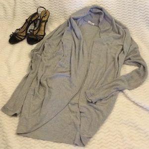 Silence + Noise Gray Cardigan Knit